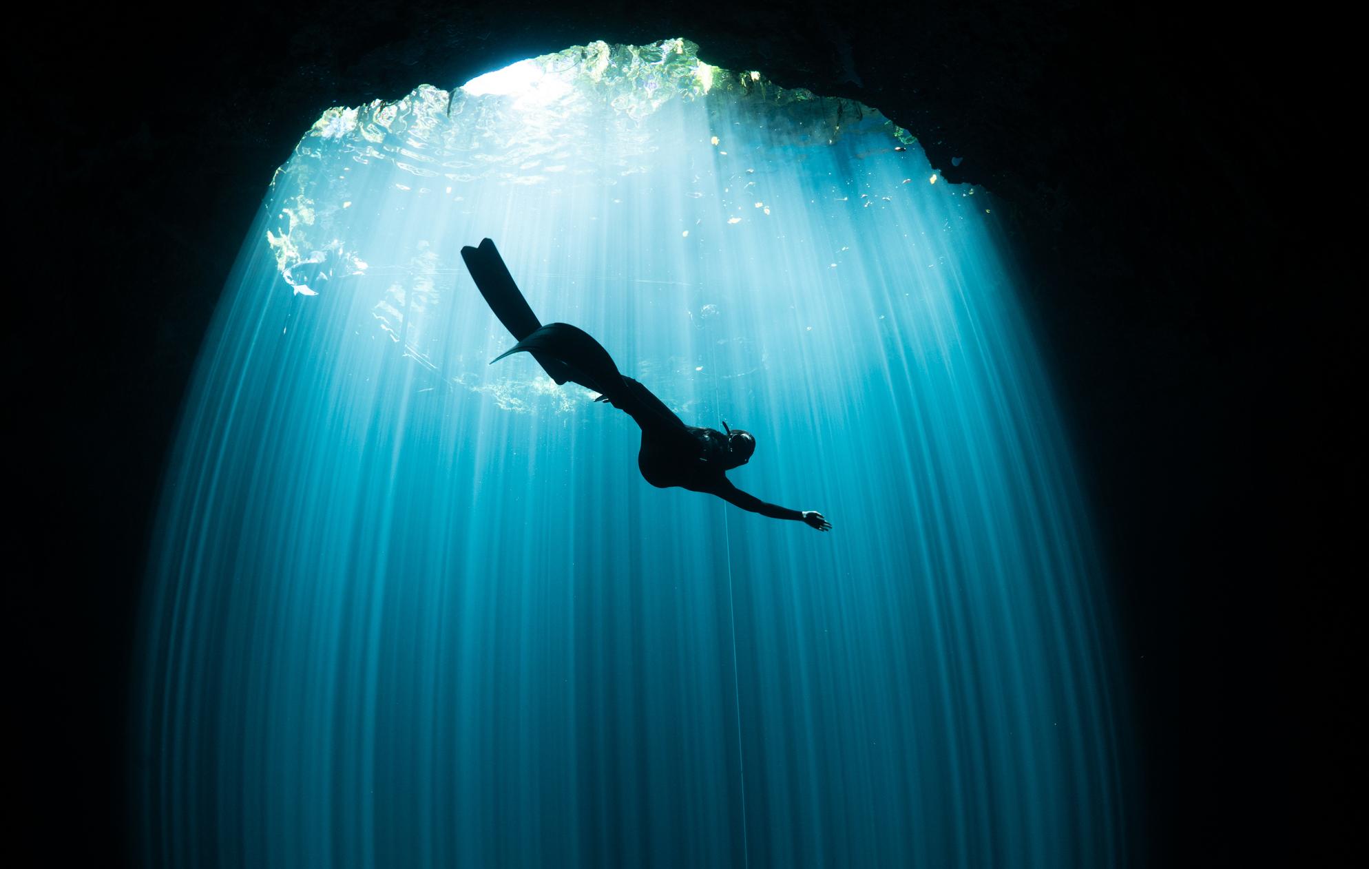 Freediving cenote